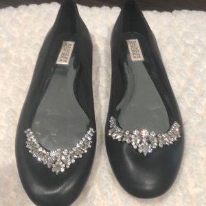 Ballet flats. Black. With bling.